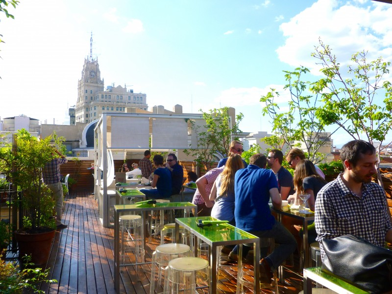 Hotel de las Letras best rooftop bar in madrid, by Naked Madrid