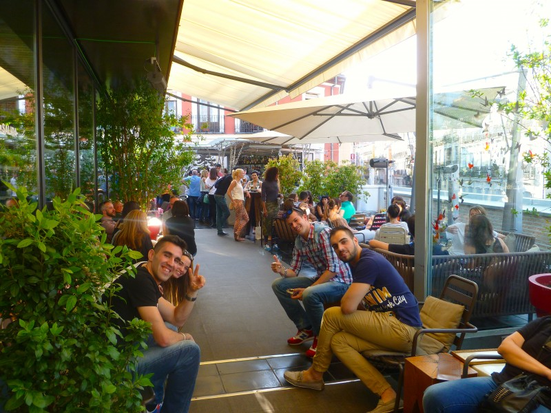 Mercado de San Anton best rooftop bar in Chueca, Madrid by Naked Madrid