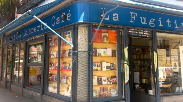 La Fugitiva cafe bookshop in Madrid by Naked Madrid