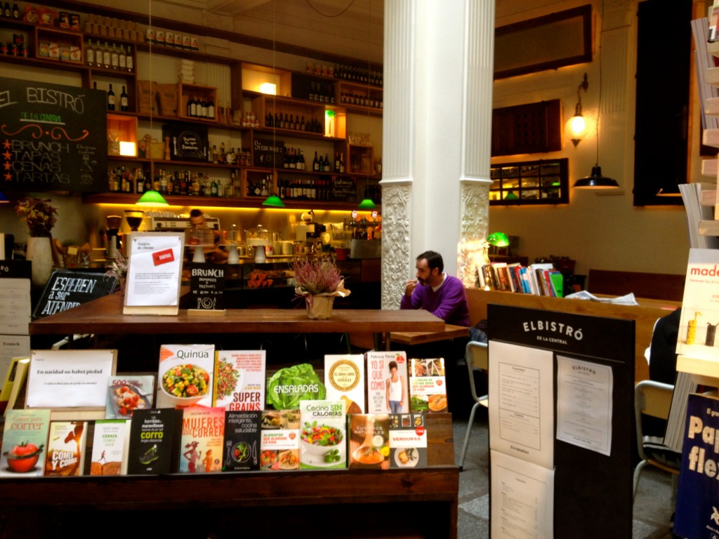 La Central cafe bookshop in Madrid by Naked Madrid