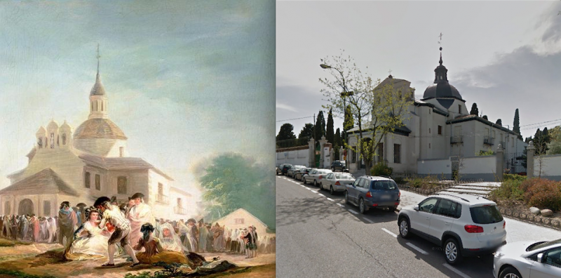 Hermita de San Isidro, the time of Goya and the time of Google Street View