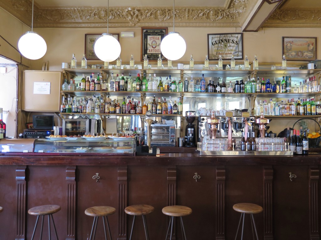 The bar has a great selection of spirits & vermouth on tap
