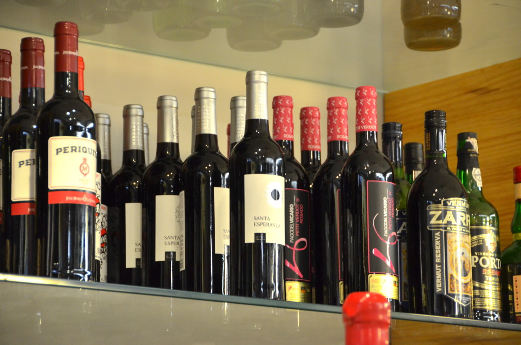 Lots of Portuguese wines and liquors