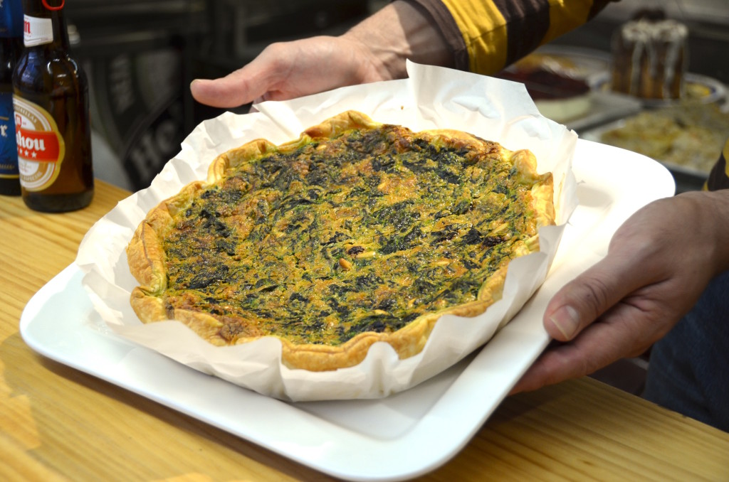 Vegetarian spinach quiche
