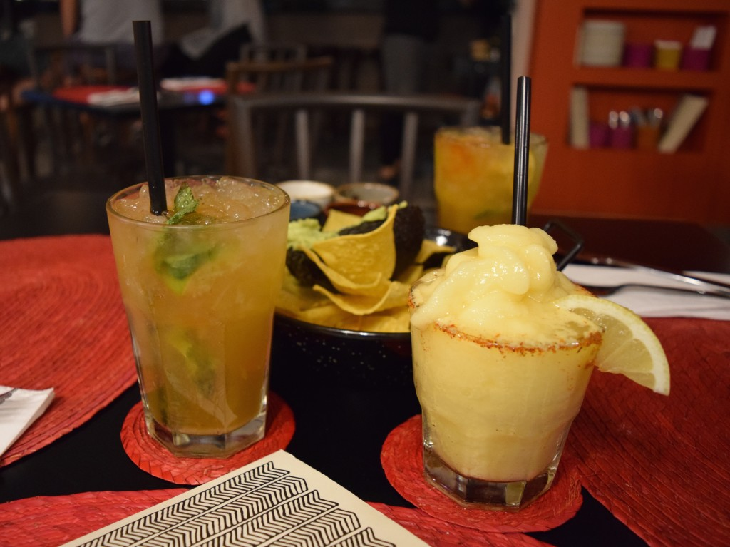 Passionfruit mojito and frozen margarita