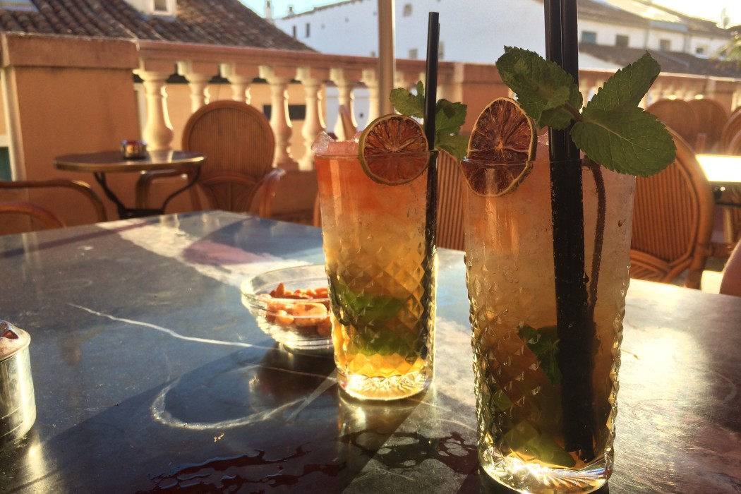 Mojitos at Cubanismo, a rooftop bar in Malasaña